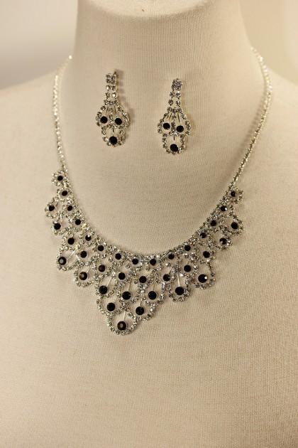 Athena rhinestone necklace set