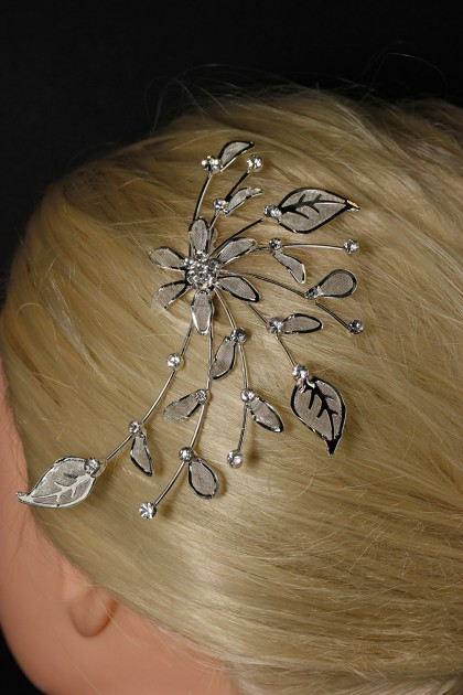 Flower prom side hair comb