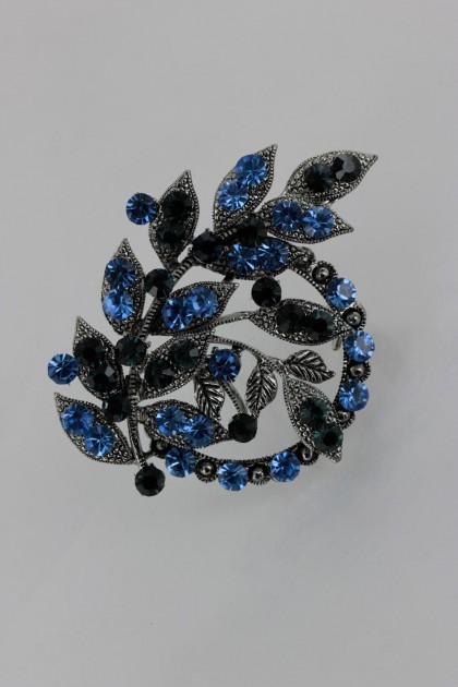 Olympus crystal brooch