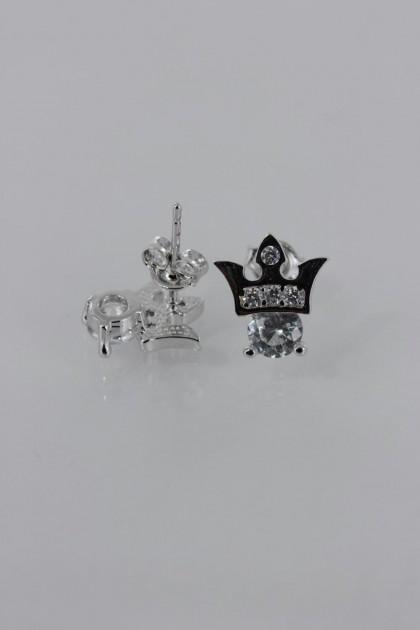 Crown CZ Earring