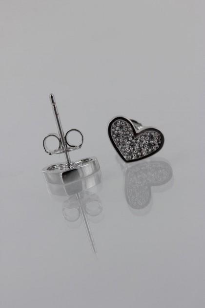Heart Pavement CZ Earring