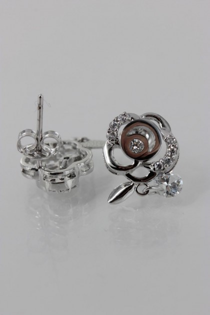 Rose cubic earring