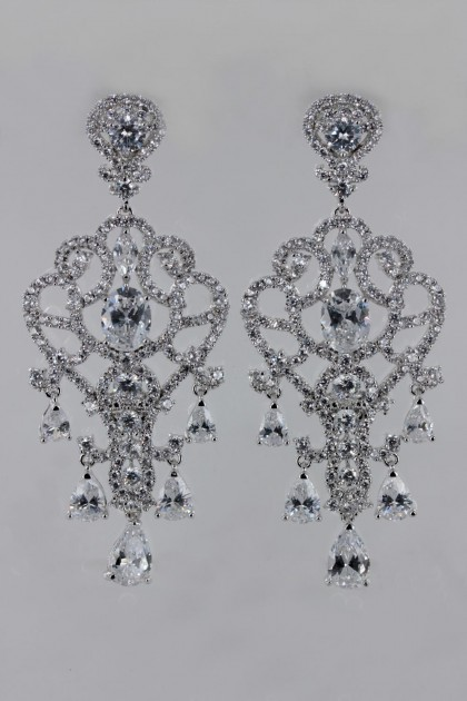 Lux Wedding CZ Earring