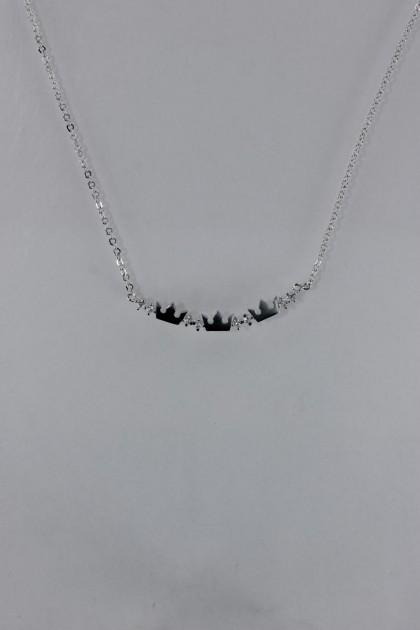 Triple crown CZ pendant