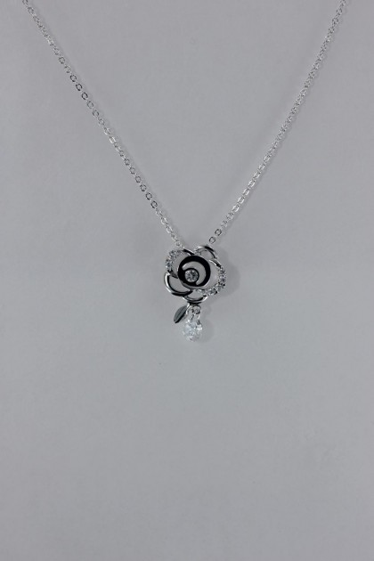 Rose CZ pendant