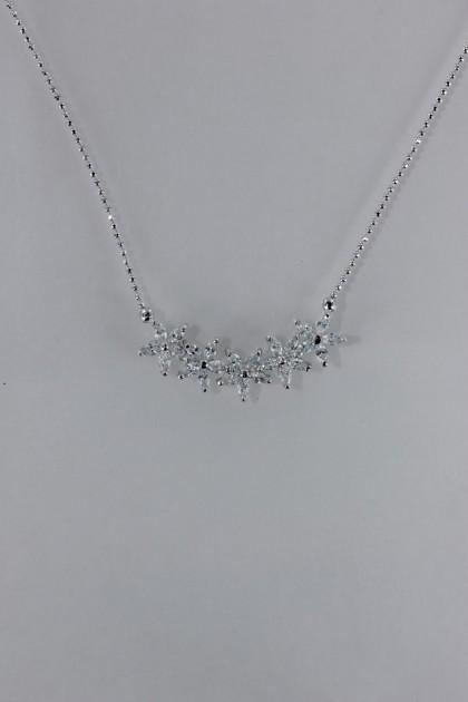 Star flower cz pendant