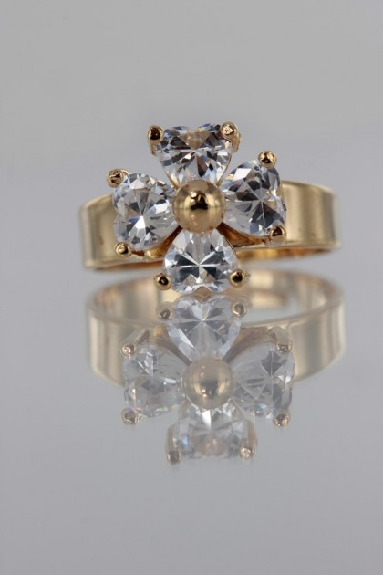 Cross Bar CZ Ring