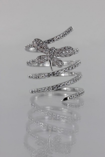 Mordern look CZ Ring