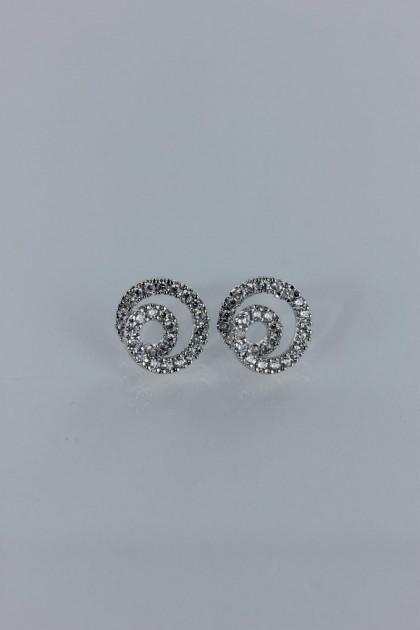 Snail cubic zirconia earring