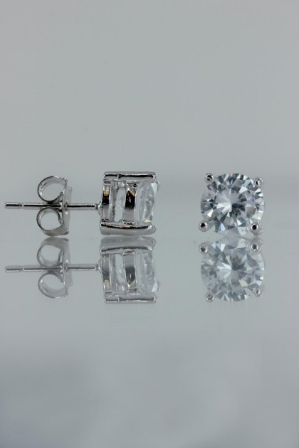 7MM AAA Quality CZ Earring