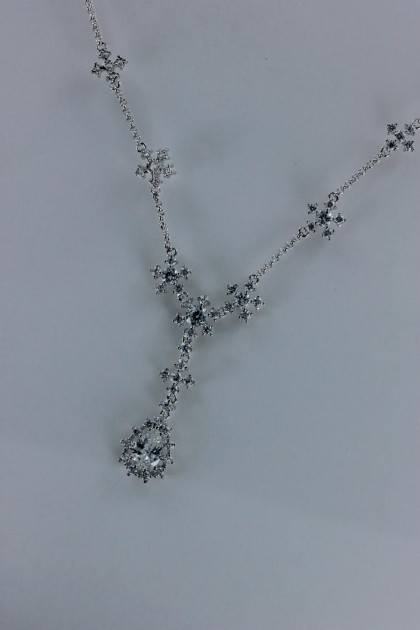 Shiny pear CZ necklace