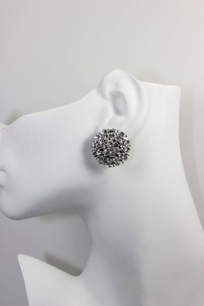 sunflower clip on earring
