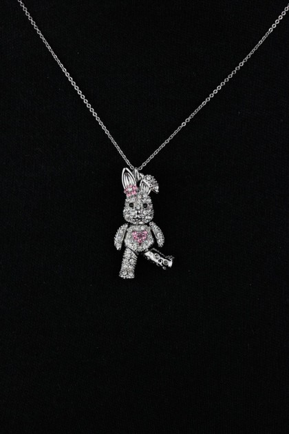 Three Dimensional Rabbit Pendant