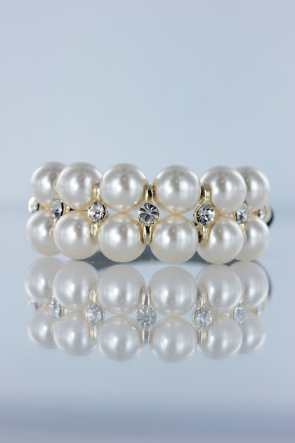 Simple pearl hair pony tail jewelry