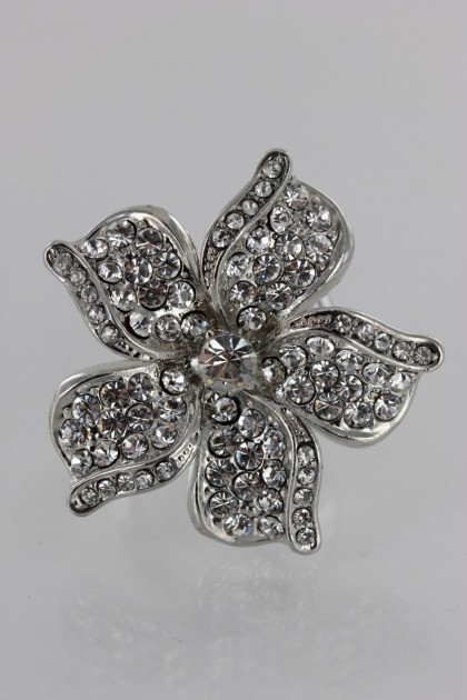 Adjustable Hwaian Flower Ring