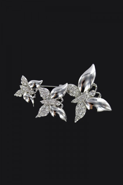 THREE BUTTERFLY BROOCHE