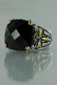 CZ-RS711 Black Antique CZ ring