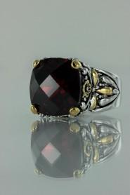 CZ-RS711 Garnet Antique CZ ring