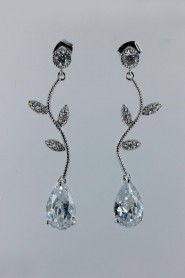 CZE19-913 CZ waterdrop earring