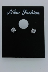 CZ-E501 3MM AAA Quality 1 point up CZ Earring