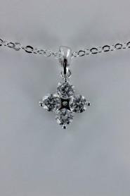 CZ-NP348 Tina basic AA Grade CZ pendant necklace