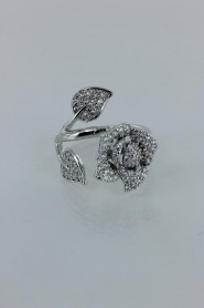 CZ-RA312 Bunch of rose adjustable CZ ring