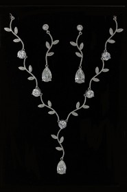 NS19-912 CZ Necklace set