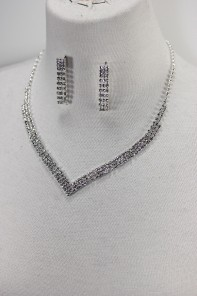 Basic rhinestone necklace set