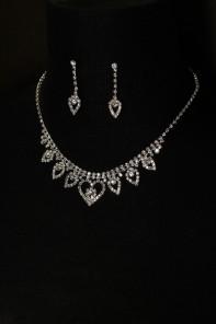 heart flower necklace set