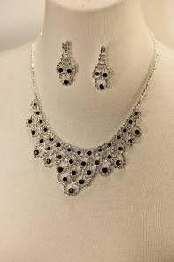 Athena rhinestone necklace set