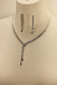 Wondy belt rhinestone necklace set