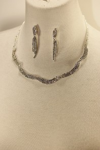 Twist rhinestone necklace set