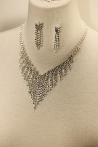 Rain rhinestone necklace set