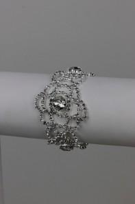 Rose rhinestone bridal bracelet