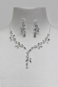 Flower Garden Rhinestone Necklace