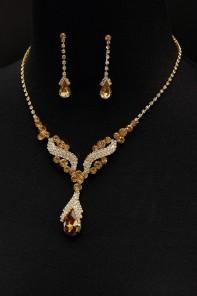 mirror drop necklace set