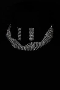 Choker rhinestone necklace set