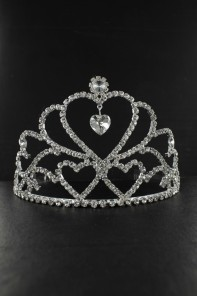 LARGE HEART TIARA