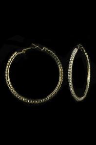 50MM 1-LINE HOOP EARRING-E1288