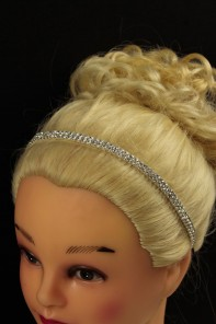 Rhinestone wedding elastic headband
