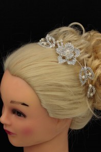 Adjustable wedding hair comb