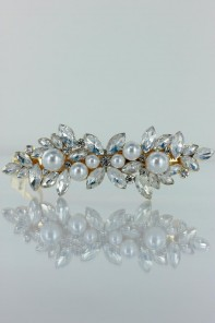 snow flake hair barrette