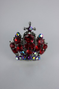 Crown badge style brooch