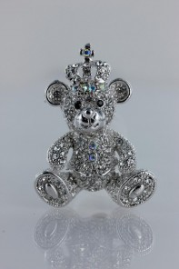 Crown bear brooch