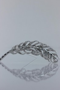 Swarvoski square crystal brooch