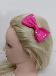 MEDIUM SPARKING HAIR BOW CLIP