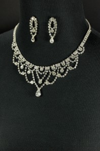Chandelier necklace jewelry set