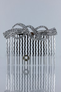 Square queen hera bridal side comb
