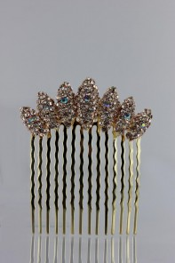 Crescent wedding side hair comb