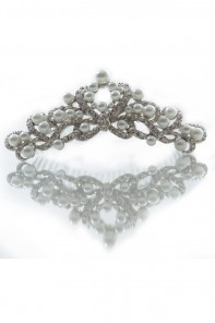 Crown Pearl Hair Comb Jewelry
